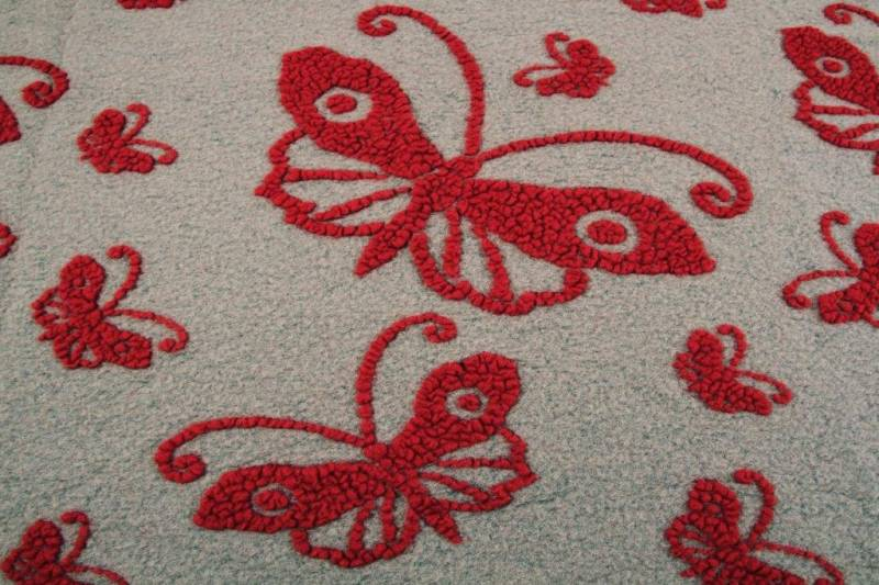 FEELGOOD HOME DECOR - PANNO CASENTINO - RED BUTTERFLY - FEELGOOD HOME DECOR - FARFALLA TORTORA/ROSSA