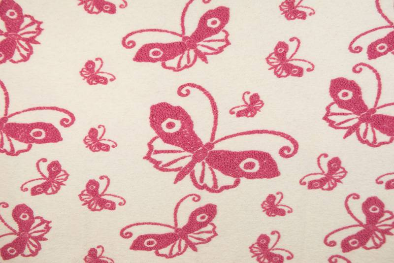 FEELGOOD HOME DECOR - PANNO CASENTINO - RED BUTTERFLY - FEELGOOD HOME DECOR - FARFALLA BIANCO/FUCSIA
